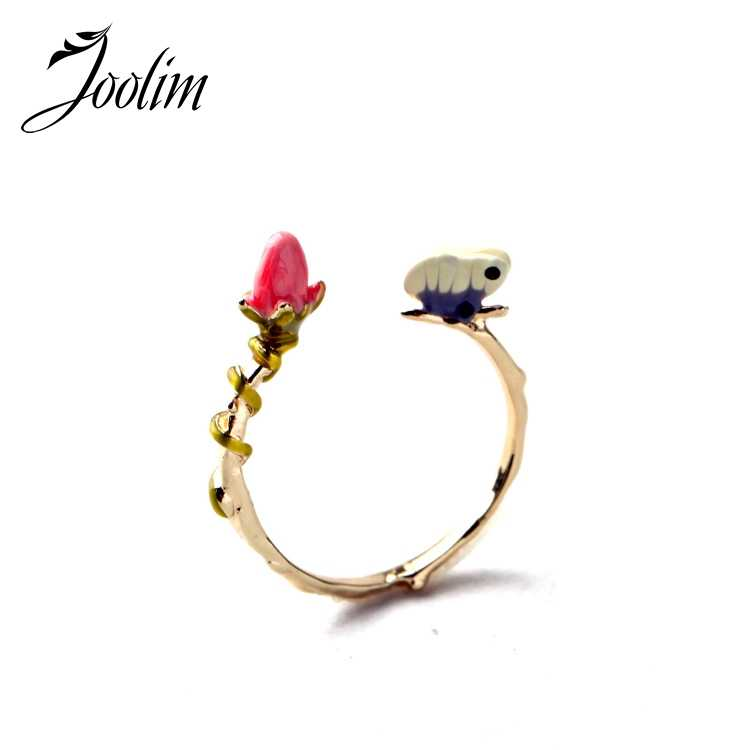 JOOLIM Jewelry Wholesale/  Gorgeous Flower  Women Ring Jewelry Accessories Factory Supply