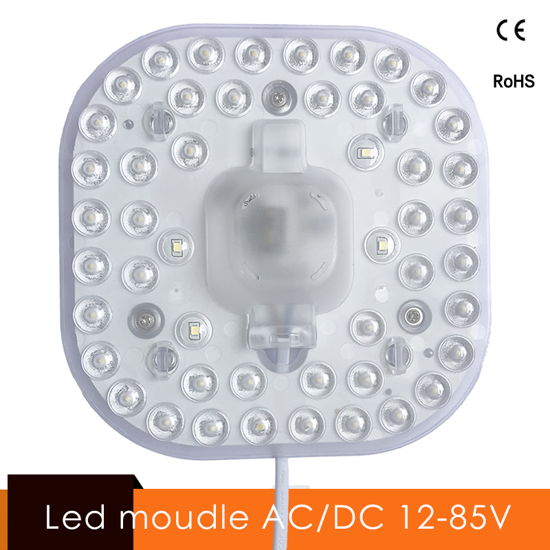 Ceiling Lamps <font><b>LED</b></font> <font><b>Module</b></font> AC/DC 12V <font><b>24V</b></font> 36V 48V 24W Square <font><b>LED</b></font> Light Replace Ceiling Lamp Lighting Source Convenient Installation image