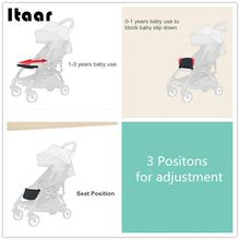 Babytime Baby Carriage Accessory Pram Accessory Safe Practical Baby Stroller Footrest ABS + Canvas Cushion Sleep Pedal Seat