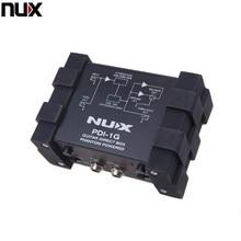 전문 NUX PDI 1G 기타 직접 주입 팬텀 파워 박스 오디오 믹서 Para Out Compact Design Metal Housing