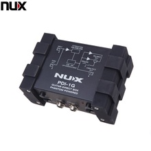 Professional NUX PDI 1G Guitar Direct Injection Phantom Power Box Audio Mixer Para Out Compact Design Metal Housing