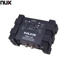 プロ nux PDI 1G ギター直接噴射ファンタム電源ボックスオーディオミキサーパラアウトコンパクトデザインメタルハウジング