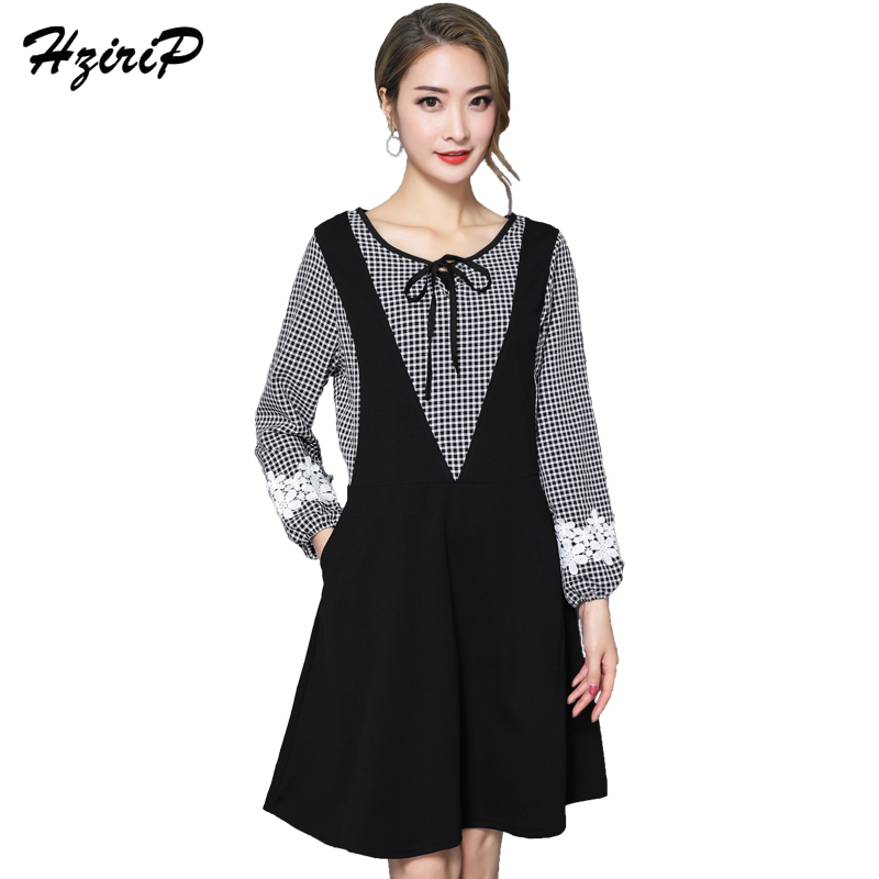 HziriP Plus Size 2018 Spring Maternity Dress Fashion Lattice Lace Lantern Sleeve Pregnancy Clothes for Pregnant Women Dresses