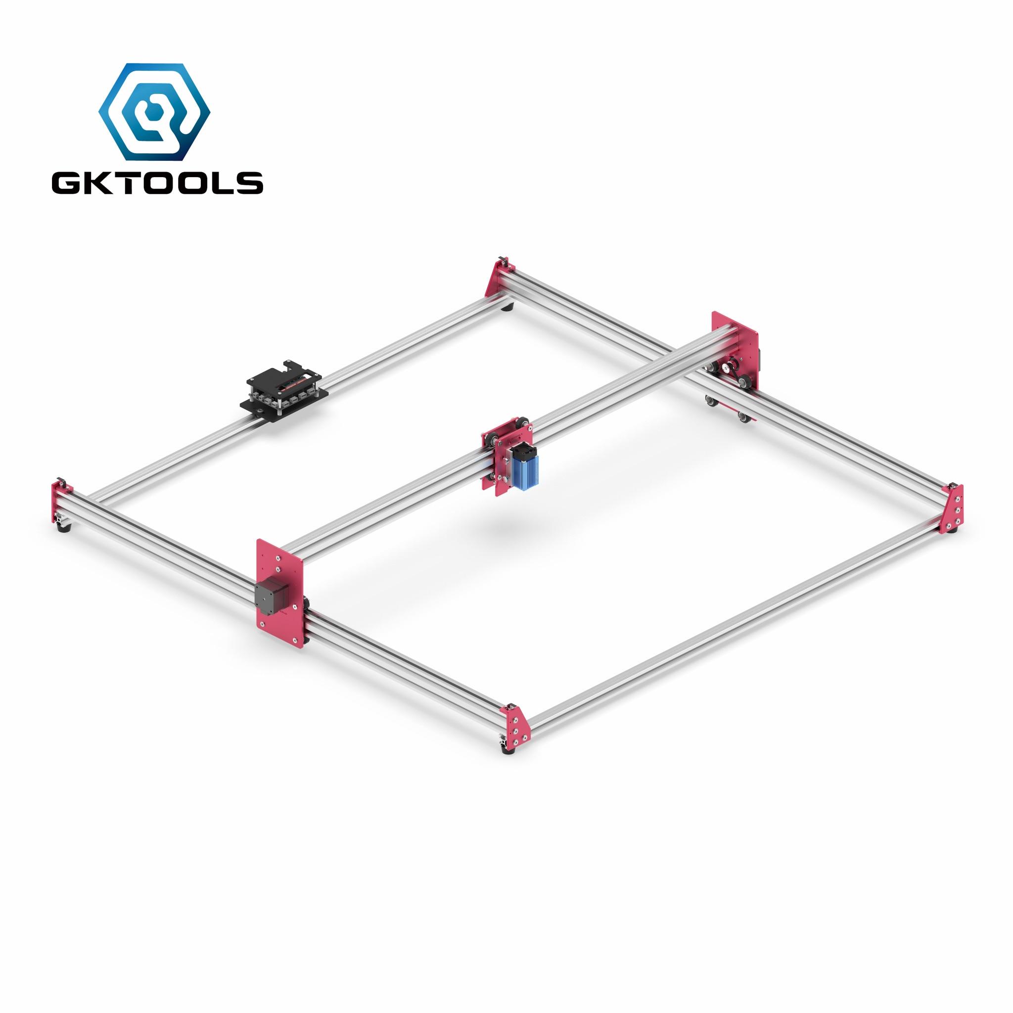 GKTOOLS  100x100cm DIY CNC GRBL Hobby Mini Laser Cutting Lazer Engraver Wood Leather Cutter Engraving Machine PWM EleksMaker