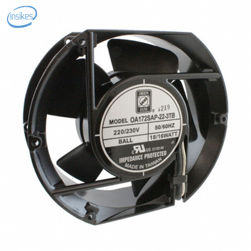 OA172SAP-22-3TB Cooling Fan AC 220V-230V 18/16W 17251 17CM 172*150*51mm 50/60HZ 2 Wires delta new efb1548vhg 17251 17cm 48v 0 83a circular drive cooling fan for 172 172 51mm