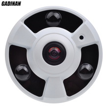 GADINAN AHD-Q 3MP Camera FishEye 5MP 1.7mm Lens 360 Degree View Panorama Analog HD Security Camera IR 10m Metal Case UFO Style