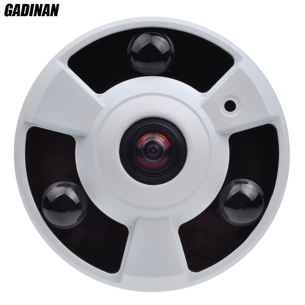 GADINAN AHD XVI 5MP Camera CVI TVI 4MP FishEye 1.7mm Lens 360 Degree View Panorama Security Camera IR 10m Metal UFO Style