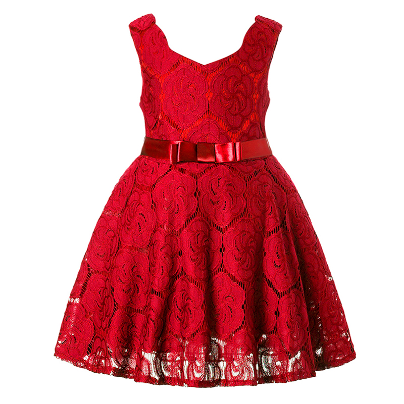 New Girls Dress Christmas Party Baby Girls Lace Flower Gown Fancy Dress Sleeveless princess dress jioromy big girls dress 2017 summer fashion flower lace knee high ball gown sleeveless baby children clothes infant party dress