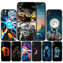 Dragon Ball Z oku Super Soft TPU Black Silicone Case Cover for iPhone 7 8 XS Max XR X 6 6S 5 5C 5S SE Plus(China)