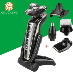 Chu cheng high quality rotary men rechargeable electric shave four heads washable men beard trimmer 4d.jpg 250x250