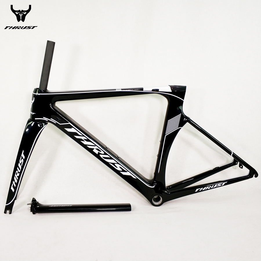 THRUST Carbon Road Frame 48 50 52 54 56cm Road Bicycle Frame Black Matte Glossy UD T1000 8 Colors 2 Warranty for Bicycle Parts
