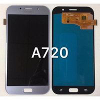 100 Super AMOLED LCD For Samsung Galaxy A7 2017 A720 A720F SM A720F LCD Display Touch