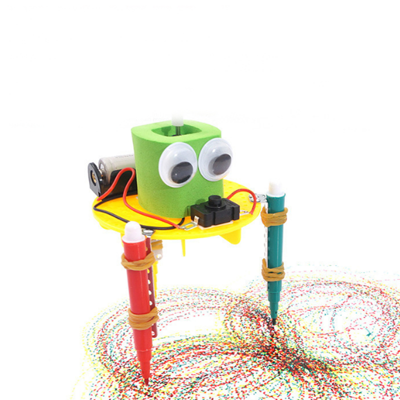 Learning & Education Drawing Toys Devoted Funny Diy Doodle Robot Technology Small Inventions Educational Toys Kids Toy