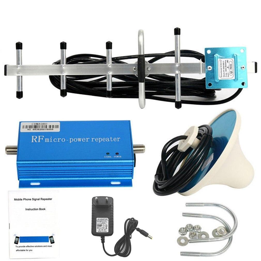 Amplificateur de Booster de répéteur du Signal 3G 4G de téléphone portable de EUPlug 850MHz CDMA avec le Kit de prolongateur aérien de Signal de Grain élevé pour le bureau à la maison