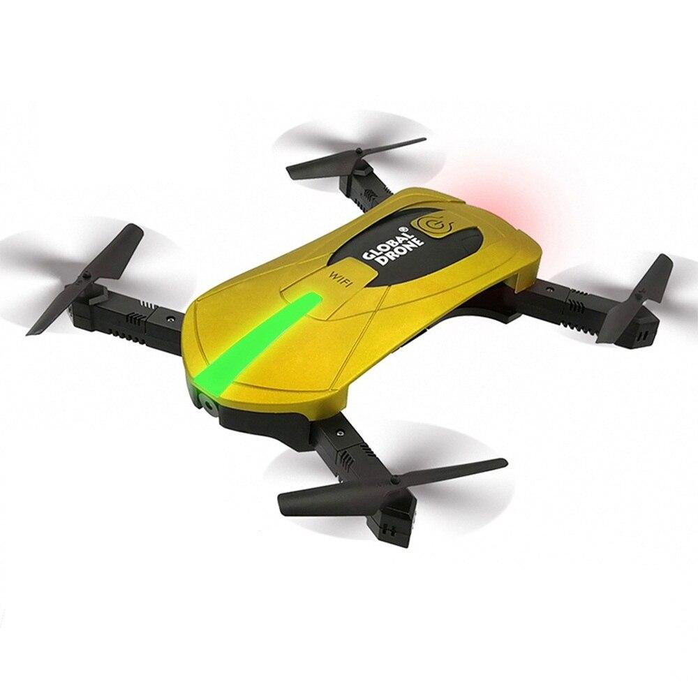 Global Drone GW018 FPV Selfie Drone con cámara HD 720 p gran angular Cámara plegable Drone alta Hold RC quadrocopter VS JY018 SG700