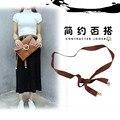 Moda microfibra pérola decorativo Yaolian cinto largo feminino vestido de saia cintura cadeia de todos os jogo simples