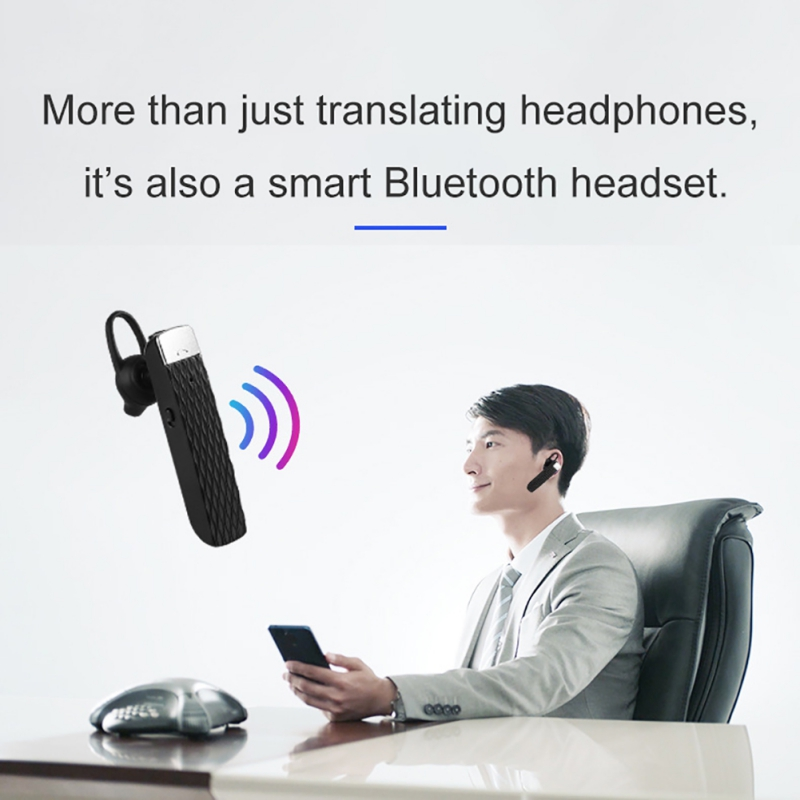 Smart Translator Earphone For Bluetooth 5.0, Portable Intelligent Wireless Headset Translation Device Support 33 languages