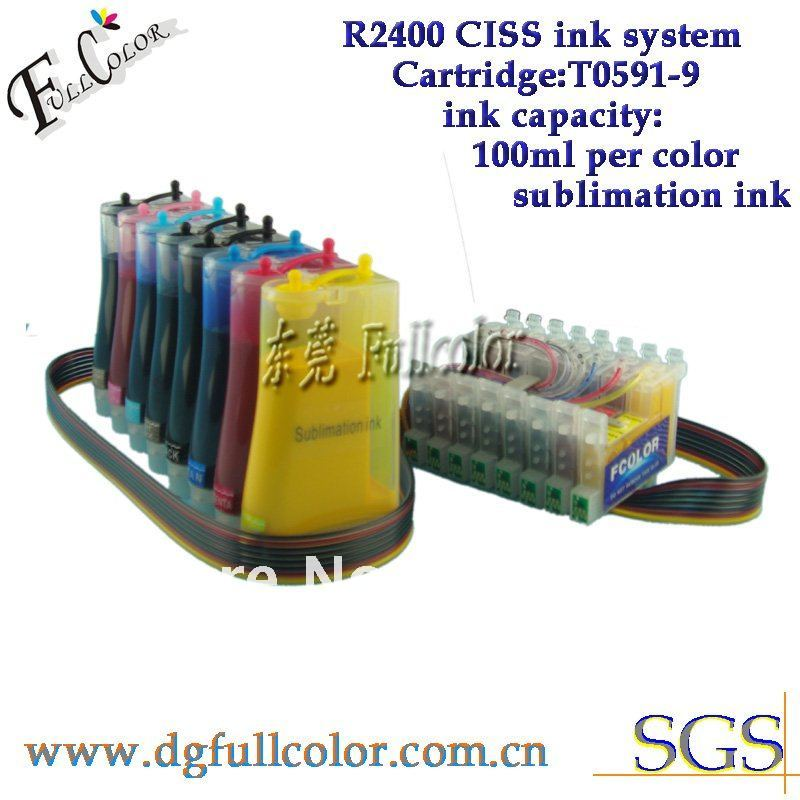 Free Shiping R2400 Sublimation Ink CISS With Transfer Ink And ARC Chip For 8color CIS R2400 free shiping r2400 sublimation ink ciss with transfer ink and arc chip for 8color cis r2400