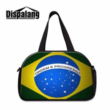 Dispalang Luggage Travel Bag Flag Of Brazil Print Organizer