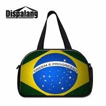 Dispalang Luggage Travel Bag Flag Of Brazil Print Organizer