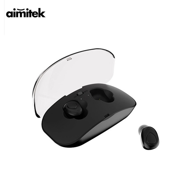 a89250769ad Aimitek X18 Mini Bluetooth Earphones TWS True Wireless Stereo Earbuds  Handsfree Sports Headsets with Mic Charging Box for Phones