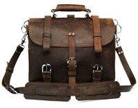 Genuine Leather men's bag wholesale cool leather men bag crazy horse retro men's shoulder Messenger bag