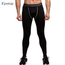 Vertvie фитнес мужские колготки для бега высокие эластичные Компрессионные спортивные Леггинсы быстросохнущие штаны длиной до лодыжки размеры для спортзала