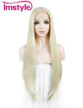 """Імстил хвилеподібний синтетичний світло блондинка 30 """"мереживо перший парик"""