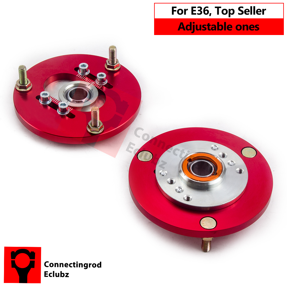 Adjustable Camber Plates Fit For BMW E36 3Series 318i 323is 325i 325is Top Mount E30 E36 E46 Z3 Z4 Rear Shock Absorbers for bmw 3 series e36 318 328 323 325 front coilover strut camber plate top mount green drift front domlager top upper mount