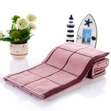 pink white purple grid Hand Towel Cotton Brand Face Towels Toallas Algodon Handdoek Bathroom for Adults Gift