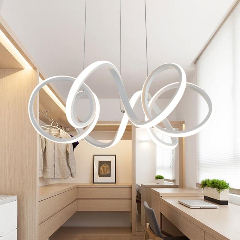 Led lampadario moderno novit lucido cucina soggiorno sala - Lampadario camera da letto moderno ...