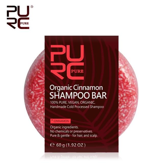 PURC Canela Orgânica artesanal processado a frio Barra de 100% PURO sem produtos químicos ou conservantes shampoo cabelo Shampoo sabão