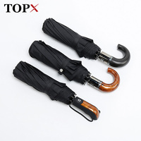 Classic English Style Umbrella Men Automatic 10Ribs Strong WindResistant 3 Folding Umbrella Rain Business Male Quality