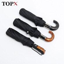 Klassische Englisch stil Regenschirm Männer Automatische 10 Rippen Starke WindResistant 3 Folding Regenschirm Regen Business Männliche Qualität Sonnenschirm