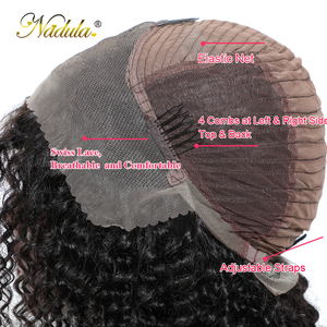 Image 5 - Nadula Hair 13*4 Short Bob Mongolian Kinky Curly Hair Wigs for Women Kinky Curly Lace Front Human Hair Wig Bob Lace Front Wig