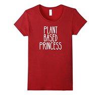 Plant Based Princess Vegan T Shirt Printed Tops Popular Tees Pinted T Shirt Cool Fashion Women