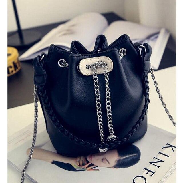 Women's PU Leather Bucket Bag  3