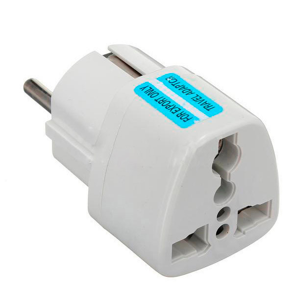 Universal AU UK US to EU AC Power Socket Plug Travel Charger Adapter Converter Free Shipping