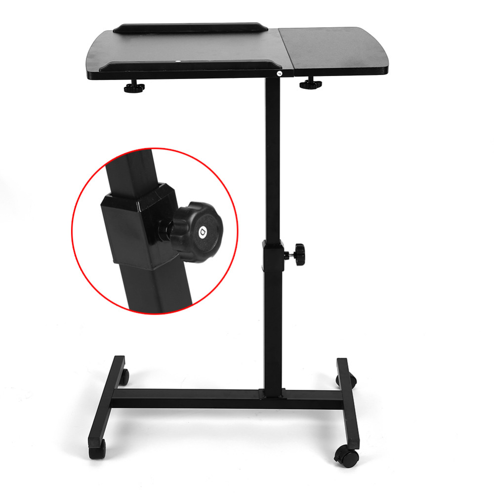 Portable Foldable Adjustable Laptop Desk Computer Table Stand Tray For Sofa  Bed Black(China (