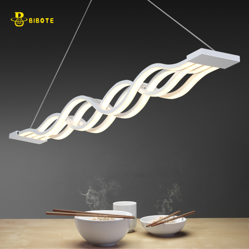 L100CM  60cm New Creative modern LED pendant lights Wave hanging pendant lamp for dining room living room kitchen AC85-265V блок питания thermaltake russian gold volga 1000w w0429re