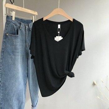 M22 Tshirt Women Letter T-shirts Printing Funny Tee Shirt For Female Top Clothes Short Sleeve Tees YU01