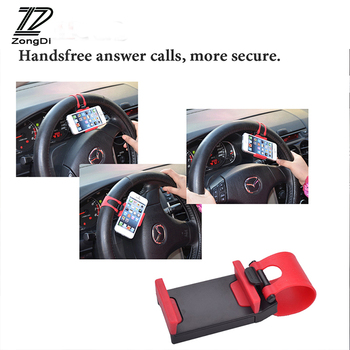 ZD Car Steering Wheel Clip Mount phone GPS Holder For VW polo passat b5 b6 Mazda 3 6 cx-5 Toyota corolla Ford focus 2 accessorie image