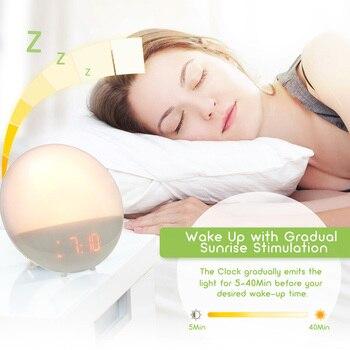 Réveil Avec Lumière Fm Radio Alarmes Deux Led Lever OiZXPku