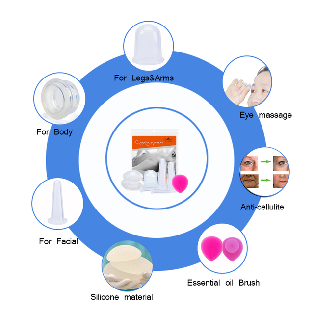 VeryYu Silicone Body Facial Cellulite Massage Therapy Vacuum Cup Set Wellness  VeryYu the Best Online Store for Women Beauty and Wellness Products