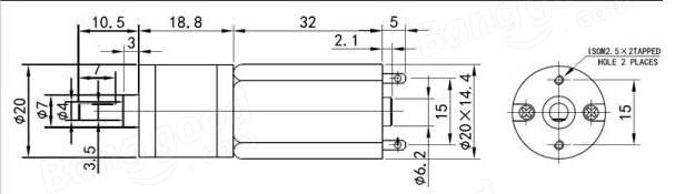 DC12V 100RPM Mini Metal Gear Motor