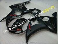 מכירות חמות, המחיר הטוב ביותר עבור ימאהה 2003-2004 YZF-R6 YZF R6 YZFR6 R6 03-04 כל שחור אופנועים Fairing סט (הזרקה)