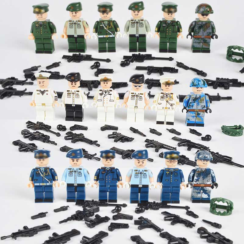 New WW2 The Armed Forces Military Figures Building Block Army Commander Soldiers With Weapons Model Brick Toy For Kids Gift samira al senany amer al saif aspects in the care of older adult