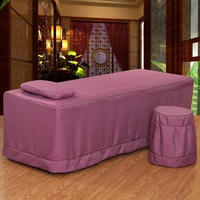 One Piece Brief Beauty Bed Skirt 70*190cm Beauty Salon Massage Bedspread with Hole Customized Size Brown Purple White #406