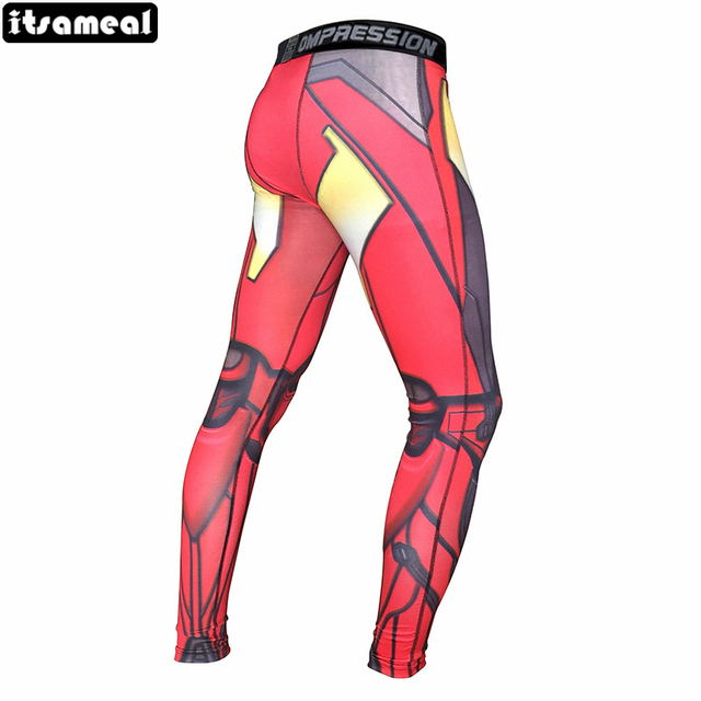 a044df9bf2658 Women Leggings 3D Printed Pattern Captain America Iron Man Compression Pants  For Lady Fitness Skinny Leggings Trousers Female