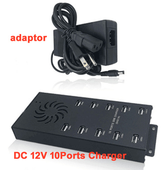 5V 2.1A USB charger 10 ports apply to Camara MP3 MP4 with adapter 50/60Hz